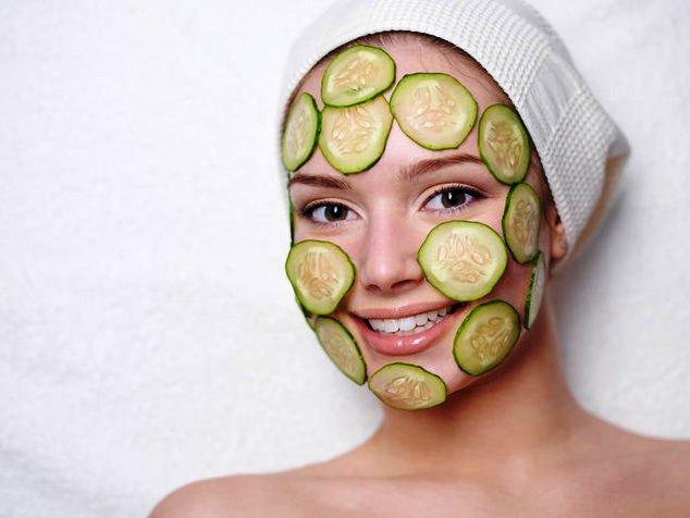 отбеливание кожи лица огурцом