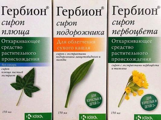 сироп гербион для лечения сухого кашля