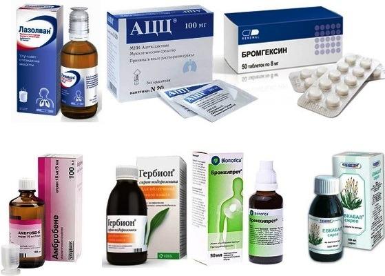 сухой кашель лечение медикаментами